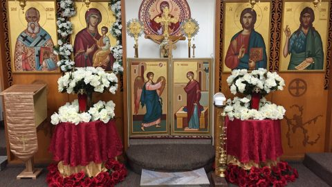 SUNDAY, MARCH 24, 2019  of the Holy Cross Triodion (Period of the Three Odes) – Great Lent  Preparation of the Feast of the Annunciation – Commemoration of our Holy Father Zachary the Recluse (Class 5) الاحد، 24 اذار 2019 الاحد الثالث للصوم العظيم المقدس – احد الصليب المقدس  – وعيد البشارة
