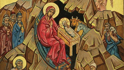 المسيح ولد فمجدوه Christ is Born Glorify Him ميلاد مجيد وكل عام وانتم بخير Merry Christmas