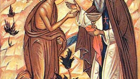 SUNDAY, APRIL 7, 2019 Triodion (Period of the Three Odes) – Great Lent Sunday of Mary of Egypt الاحد 7، نيسان 2019 الاحد الخامس من الصوم –  تذكار أمنا البارة مريم المصرية